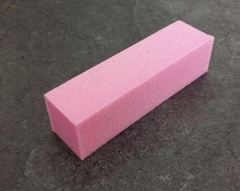 4 Sides Pink Sanding Polishing Finishing Block Buff Sponge