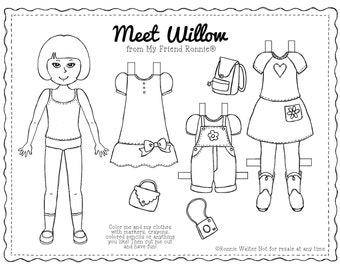 Printable Paper Doll-Willow by My Friend Ronnie®
