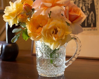 Vintage Pressed Glass Pitcher