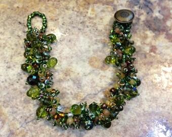 SALE 25% OFF! Olive Green Handwoven Bracelet