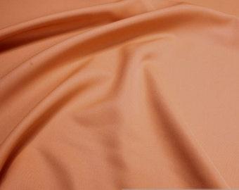 Fabric polyester denim orange crease-resistant opaque solid soft light orange