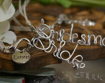 Wedding Accessory.......Bride's Bouquet Personalized Charms.....Bridesmaid Gift