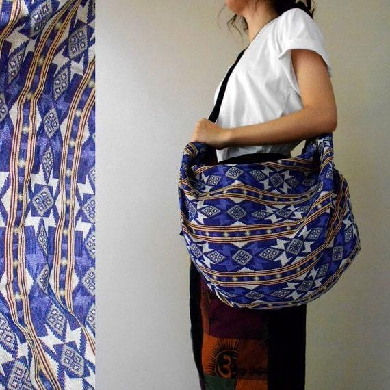 Pet Doggy Cat Travel Hippie Handbags Boho Crossbody Bag Shoulder Bag Sling Bag Messenger Bag Purse Cotton Hip Bag (H20)