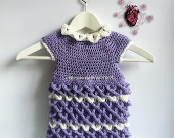 Child dress crochet handmade, all sizes 3 months-2 years-Baby dress crochet handmade, all sizes 3 months/2 year