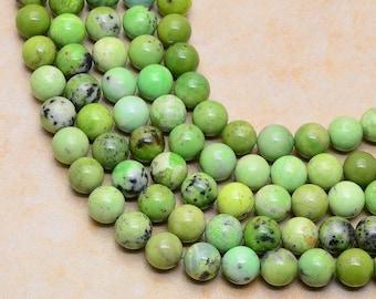 12 mm round  Natural Serpentine  bead  strand ( #J1038)