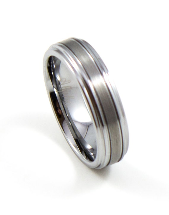 men 39 s wedding band 6mm men 39 s ring tungsten carbide ring tapered
