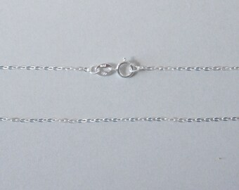 Sterling Silver, Jewelry Chain, Oval Cable, Finished Chain, Dainty Chain, Tiny Necklace, 14 inch, 1.2mm, Fast Shipping from USA
