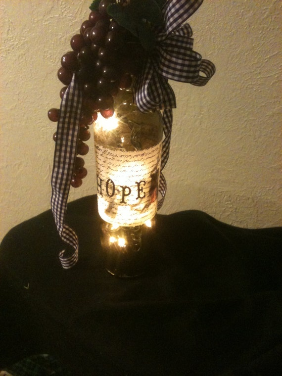 wine bottle decorations handmade custom lighted wine bottle decor by snotheaddesigns on etsy 6396