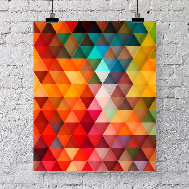Modern Geometric Print Colorful Wall Art Poster Home Decor