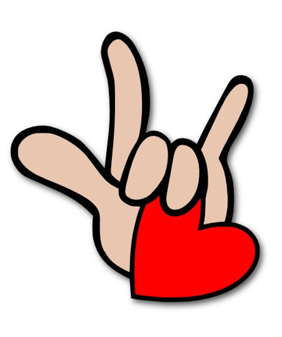 I Love You in ASL Sign Language SVG Digital File