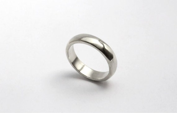 Wedding band elegant simple ay wedding ring by AyalahBJewelry