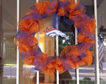 Custom NFL mesh wreath