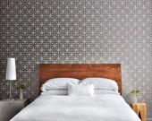 ROUNDED SQUARE Lattice All over Wall Stencil • Reusable Stencils • DIY •Home Decor •Interiors • Feature Wall • Wallpaper alternative