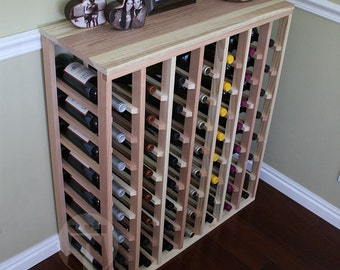 56 Bottle Table Wine Rack (Redwood) by VinoGrotto
