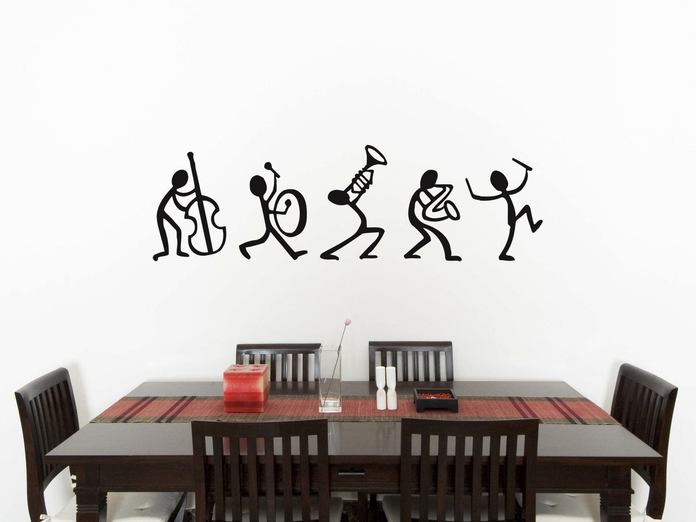 Wall Art For Men music stick men bedroom wall art sticker picture decal