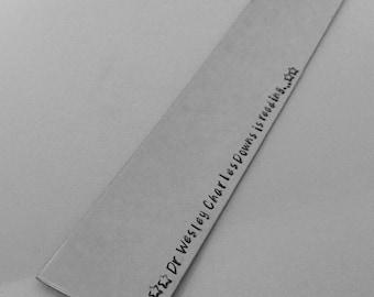 Hand Stamped Personalised Bookmark