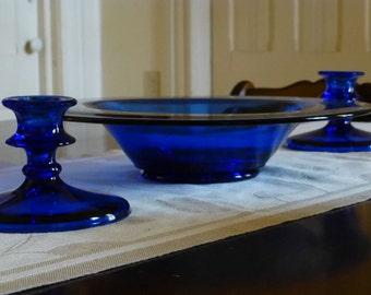 Cobalt Blue Centerpiece Set