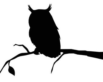 Owl on Branch Vinyl Decal