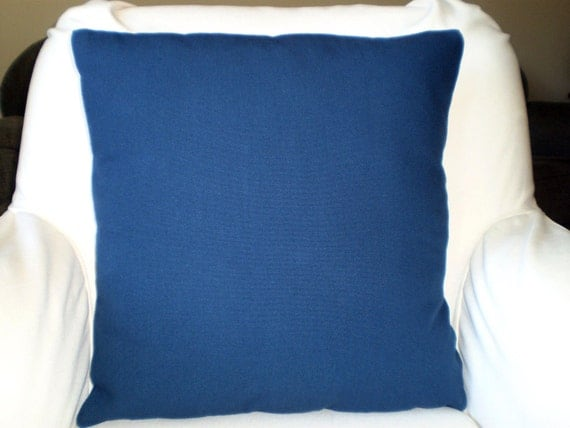 Navy Blue Decorative Bed Pillows: Solid Navy Blue Pillows, Decorative Throw Pillows, Cushion