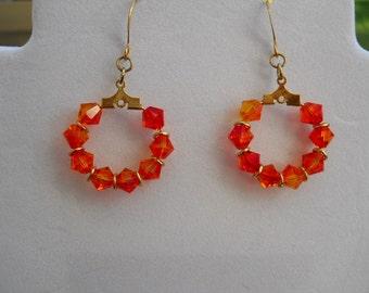 """Crystal Earrings - """"Rings of Fire"""""""