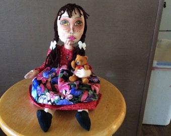 Cloth Doll,Diana's DZines, Cloth Doll, Dolls,OOAK Cloth doll