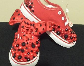Brand new red Vans low
