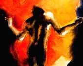 Mythology Dante Inferno Underworld Fine Art Painting Print 5x7