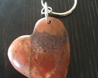 Jasper Heart Keychain
