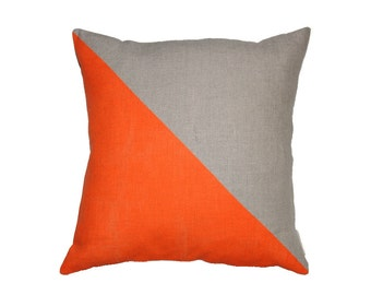 Togetherness Linen Cushion  orange