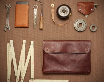 Design by George • Brown • leather pouch