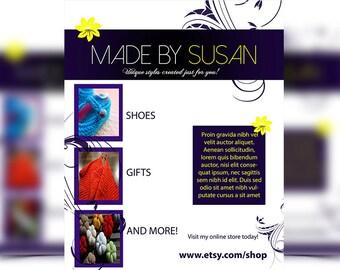 Personalized flyer, flyer template, Flyer design, marketing flyer, graphic design, custom flyer
