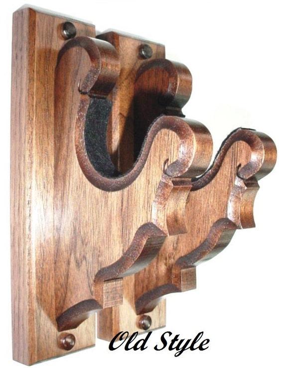 Walnut Wooden Gun Rack Hangers Antique or by GunRacksForLess