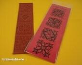 Divided Squares / Invoke Arts Collage Rubber Stamps / Unmounted Stamp Set