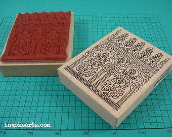 Paisley Background Stamp / Invoke Arts Collage Rubber Stamps