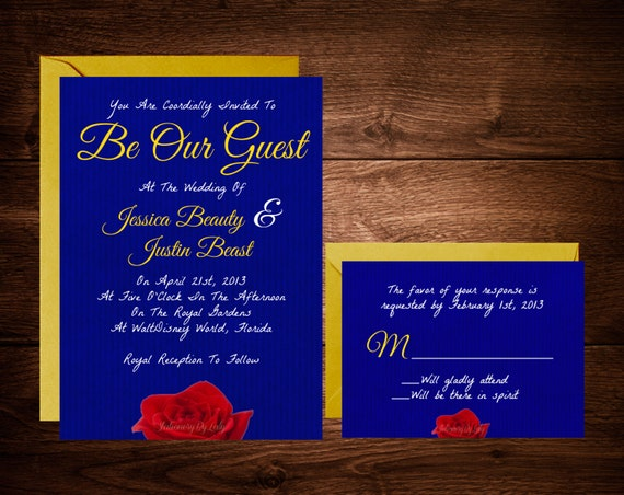 Items similar to Beauty and The Beast Wedding Invitations ...