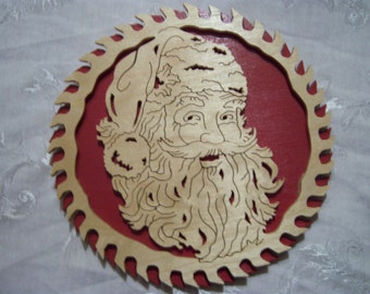 Scroll Saw Santa Picture