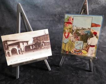 Lot of 2 cards from CANNES on the French riviera. Vintage French 1930 |