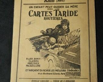 Pocket map road TARIDE number 37 Rhine | 1920
