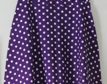 Modest Purple Polk-a-dot Skirt