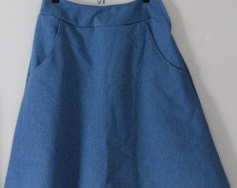 Modest Denim Skirt