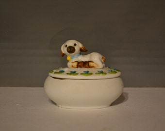 Lamb Holly Hobbie Trinket Box