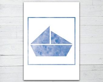 Photo print - Origami Boat