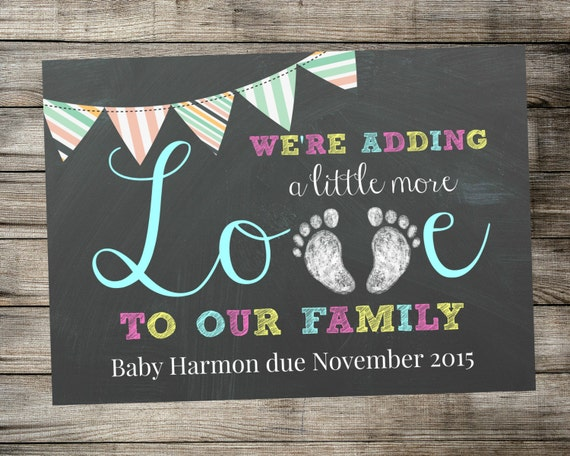 Tactueux image in free printable pregnancy announcement cards