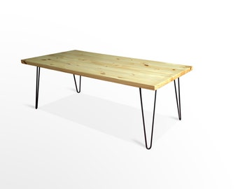 Mid Century Modern Coffee Table, Mid Century, Furniture, Coffee Table, Hairpin Legs, Vintage