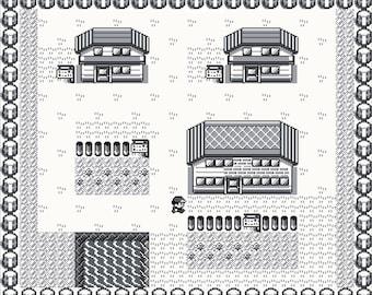 Pokemon Red Pallet Town Map -- Cross Stitch Pattern!