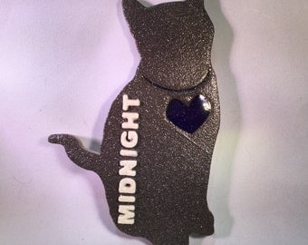 Personalized Cat Silhouette Decoration (Dark Gray)