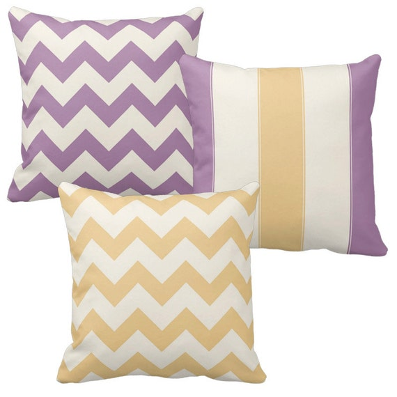 Lavender Pillow Cream Throw Pillow Covers by DesignbyJuliaBars