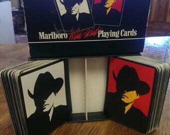vintage Marlboro playing cards