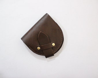 Horseshoe wallet, U-shaped wallet,Oil wax wallet,Crazy horse leather wallet,Slippers partner