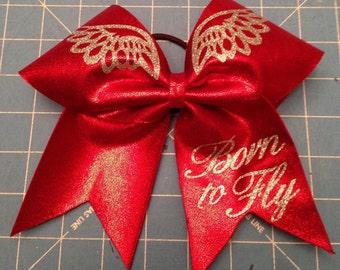 Born to Fly Cheer Bow
